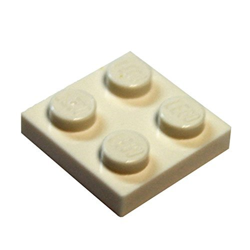 LEGO Parts and Pieces: White 2x2 Plate x20 (Lego Building Plate White compare prices)