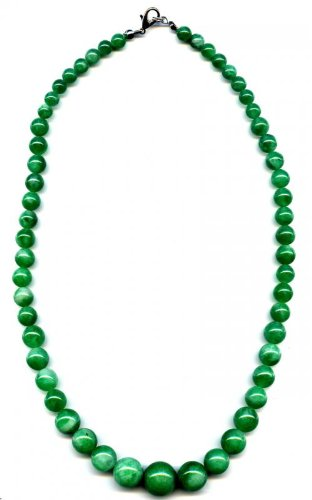 45cm Dark green jade Necklace