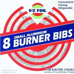 Electric Hefty EZ Foil Burner Liners For Electric Stoves, Small Aluminum, 8 Pack (Electric Stove Bibs compare prices)