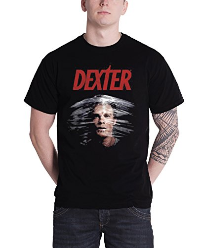 Dexter T Shirt dexter morgan Face TV show Official Mens Black (Dexter Morgan Merchandise compare prices)