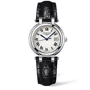 Longines L81124712 30mm Stainless Steel Case Black Calfskin Anti-Reflective Sapphire Women's Watch