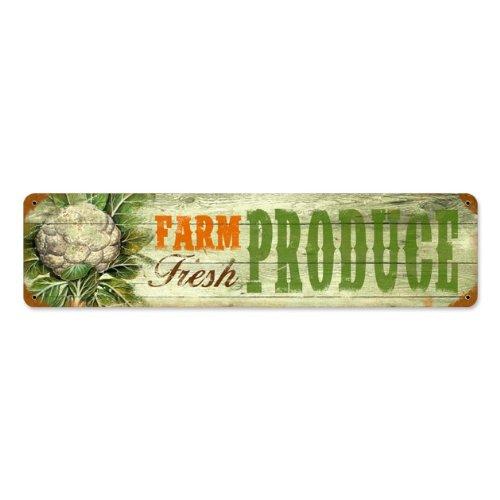 Farm Fresh Produce Tin Sign