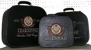 S/3 Chardonnay Suitcases
