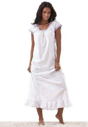 Roamans Women's Plus Size Woven A-Line Peasant Gown Dreams & Co