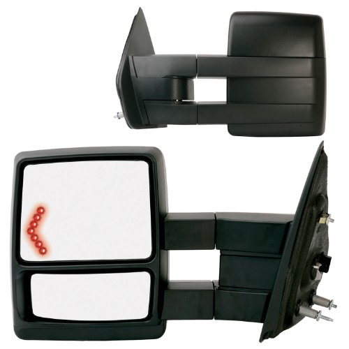 Fit System 61183-84F Black OE Style Passenger and Driver Side Extendable Towing Mirror Set for Ford F-150 - Pair (2005 Ford F150 Towing Mirrors compare prices)