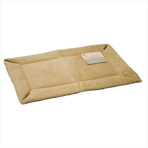 """Self-Warming Heated Crate Dog Pad Size: Large (37"""" L X 25"""" W), Color: Tan front-41510"""