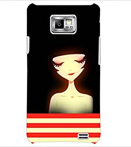 PrintDhaba Dreaming Girl D-4206 Back Case Cover for SAMSUNG GALAXY S2 (Multi-Coloured)