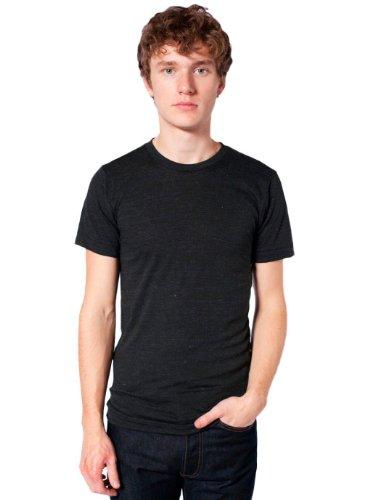 American Apparel Tri-Blend Short Sleeve Track Shirt - Tri-Black / L
