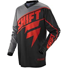 Shift Racing Assault Youth Boys MotoX/Off-Road/Dirt Bike Motorcycle Jersey - Black/Red / Large