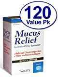120 Tabs 400 mg Guaifenesin Expectorant Mucus Thinner Compare to Active Ingredients in Mucinex