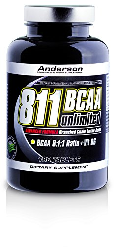 Integratore Anderson 811 BCAA Unlimited 100 cpr Aminoacidi Ramificati con Leucina potenziata 8x Formula anabolica Leucina - Isoleucina - Valina - Vitamina b6