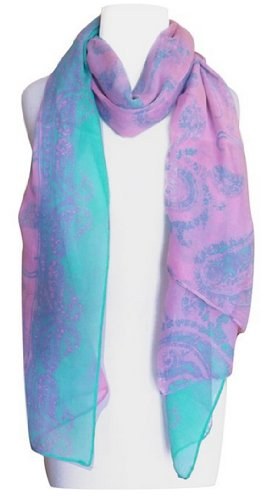 Peach-Couture-Summer-Scarf-Oversize-Scarf-Shawl-Wrap-Paisley-Scarf-Beach-Scarf-Pink-Scarf-Teal-Scarf-Henna-Scarf-Designer-Scarf-Sheer-Scarf-Long-Scarf-Beach-Sarong-Beach-Cover-Up-Light-weight-Scarf-Pi