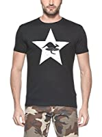 Hot Buttered Camiseta Manga Corta Star (Negro)