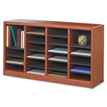 Safco E-Z Stor Wood Literature Organizer, 24 Compartments (9311CY)