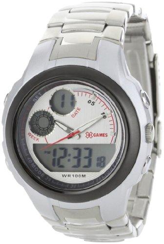 X Games Men's 75502 Analog-Digital Stainless Band Steel Sport Watch