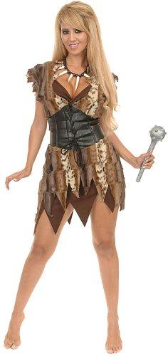 Charades Women's Cavewoman Costume Set, Brown, Large (Caveman And Cavewoman Costumes)