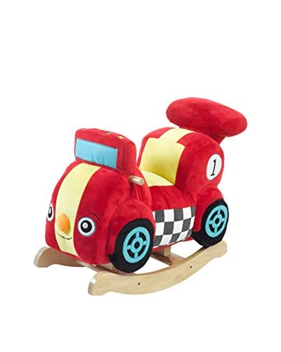 Rockabye Kid's Speedy The Race Car Ride-On Rocker, Multi