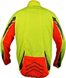 Polaris RBS Mens Flourescent Waterproof Bike / Cycling Jacket XLarge Fluo Yellow/Fluo Orange