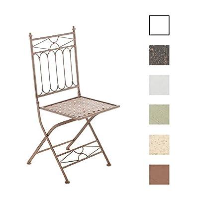 CLP nostalgischer Klappstuhl ASINA Loraville aus Eisen (aus bis zu 6 Farben wählen) von CLP auf Gartenmöbel von Du und Dein Garten