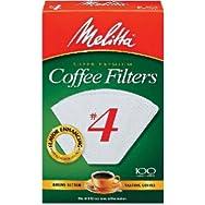 Melitta U S A Inc 624102 No. 4 Cone Coffee Filter-WHITE #4 COFFEE FILTER
