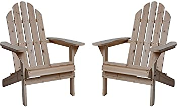 Twin Pack Fir Wood Adirondack Chairs