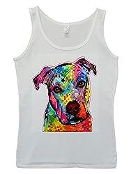 Dog Animal Doggie Cute Painting Art White Women Tank Top Vest