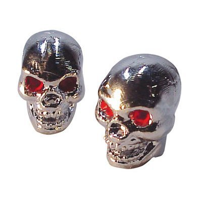 Trick Tops Boneless Skull Valve Caps pr. Chrome