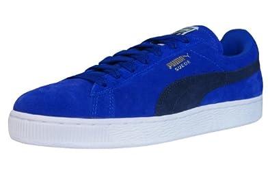 puma blue suede trainers
