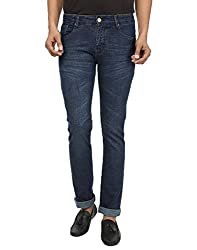 Regale Men's Lycra Denim Jeans