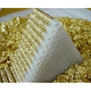 Amazon.com: Set of 10-Real Gold Flake Vials-Lucky Christmas Gold ...