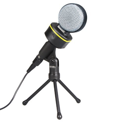 3.5Mm Wired Condenser Microphone Mic With Tripod For Pc Laptop Computer Skype Msn Karaoke For Karaoke Internet Chat Language Training Etc