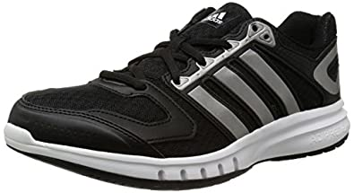 adidas Performance Galaxy, Herren Laufschuhe, Schwarz (Core Black/Iron Metallic/Core White), 40 2/3 EU (7 )
