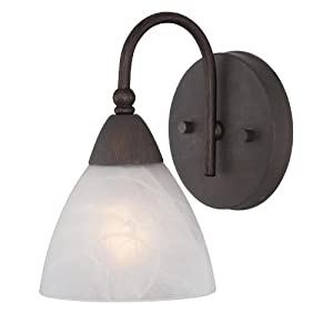 Amazon.com: Oil Rubbed Bronze Wall and Bath Light Fixture - ETCHED ...