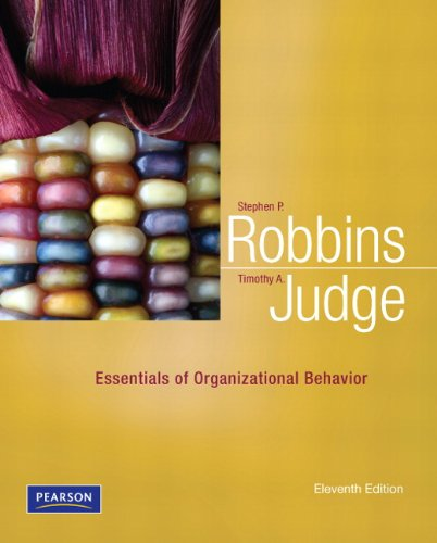 Essentials of Organizational Behavior (11th Edition)