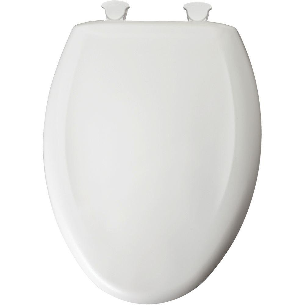 Bemis 1200SLOWT000 Plastic Elongated Toilet Seat with WhisperClose, EasyClean and Change Hinges, White at Sears.com