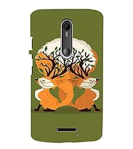 EPICCASE Creative foxes Mobile Back Case Cover For Moto X 3rd Gen (Designer Case)
