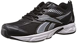 Reebok Mens Active Sports Black and Silver Mesh Running Shoes - 9 UK