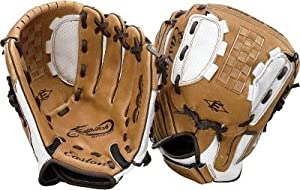 "Easton Natural Elite Fastpitch Softball Glove, 11"" - Right Handed Throw - Tan/White/Brown"