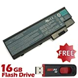 Battpit⢠Laptop / Notebook Battery Replacement for Acer Aspire 5672WLMi (4400mAh / 65Wh) with 16GB Battpit⢠USB Flash Drive