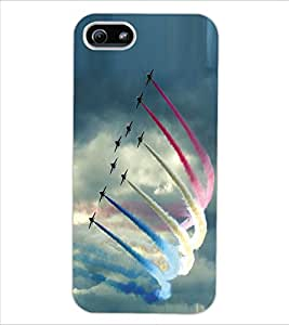 ColourCraft Fighter Jets Design Back Case Cover for APPLE IPHONE 5S