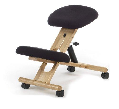 Sedia ergonomica sgabello nero