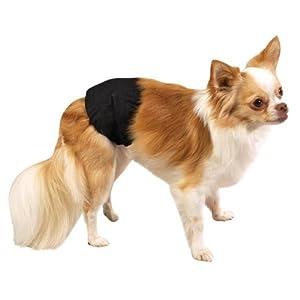 Clean Go Pet Cotton/Polyester Male K-9 Pet Wrap, X-Small, Black