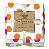 Party Brights Dots Flour Sack Towels, Set of 3 - Kay Dee Designs