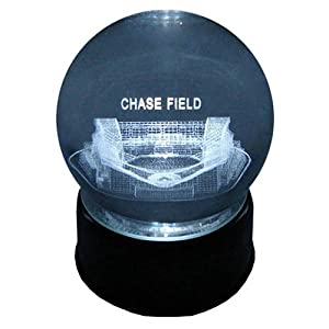 Arizona DiamondBacks Chase Field Laser-Etched Musical Crystal Ball by Sports Collector
