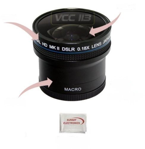 0.18x Wide Angle Fisheye Lens With Macro lens For The Canon Powershot A650, Digital Camera Tube Adapter Included