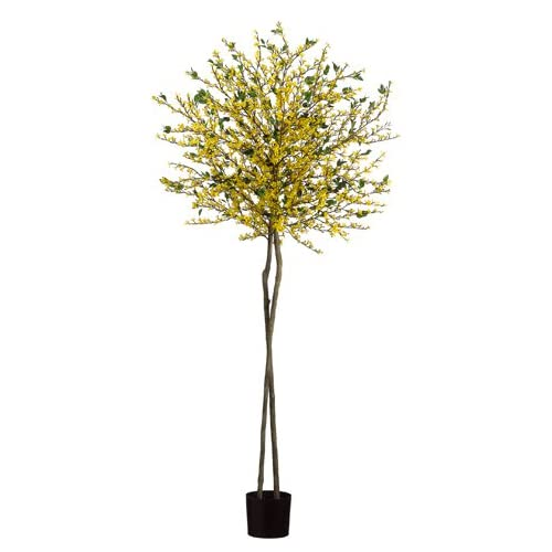 Amazon.com - 6' Forsythia Flower Silk Tree w/Pot -Yellow (case of 2