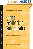 Giving Feedback to Subordinates