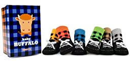 Trumpette Baby Buffalo 6 Pair Socks, Assorted, 0-12 Months