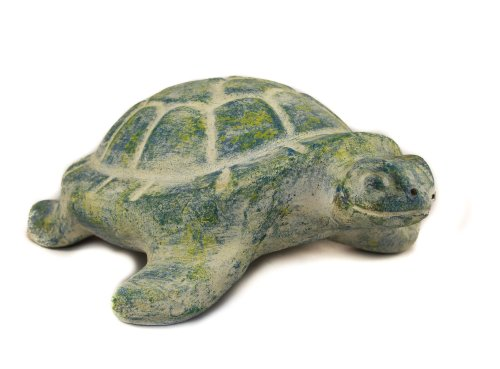 Rustic Blue Turtle Ceramic - Fair trade and handmade in Mexico - Indoor or outdoor use L28xW20xH11cm