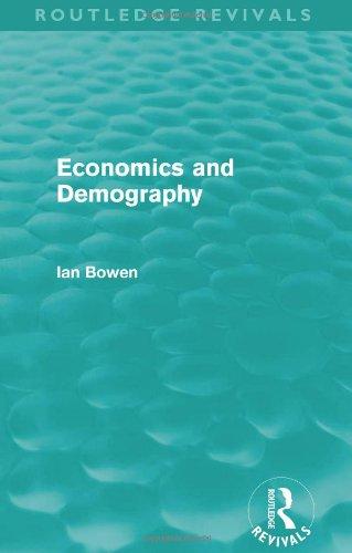 Economics and Demography (Routledge Revivals)